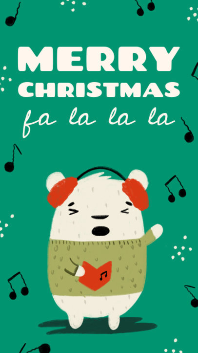 Instagram Story Creator to Celebrate Christmas Featuring a Polar Bear Singing 3134f