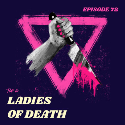 Podcast Cover Maker for an Episode About Female Murderers 3124a