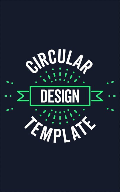 Circular T-Shirt Design Template 338