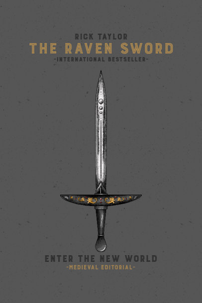 Book Cover Design Maker Featuring a Medieval Sword Illustration 3133a