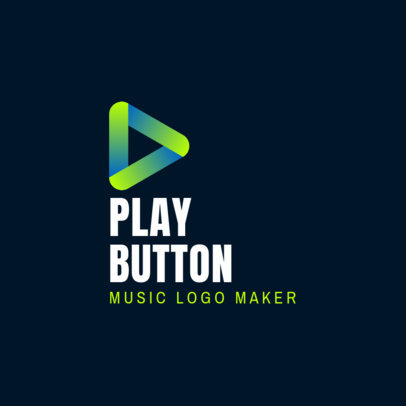 Music Logo Template Featuring Abstract Play Symbols 3832