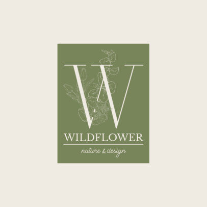 Online Logo Creator for a Flower Boutique Featuring a Decorated Monogram 3146d-el1