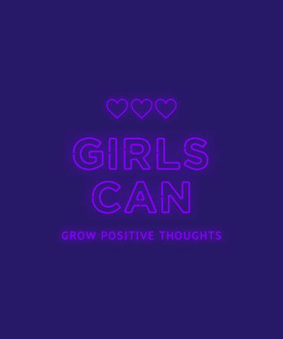 T-Shirt Design Creator Featuring a Female Empowerment Quote 3166d-el1