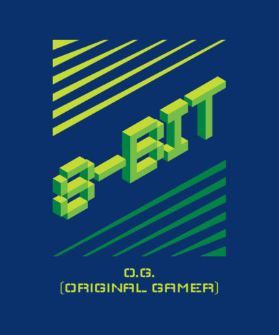 Gaming T-Shirt Design Creator with a Retro Style and 8-Bit Fonts 3164c-el1
