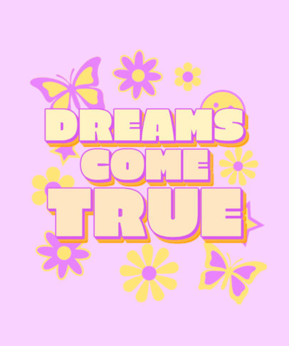 Retro T-Shirt Design Creator Featuring a Girly Quote 3148h
