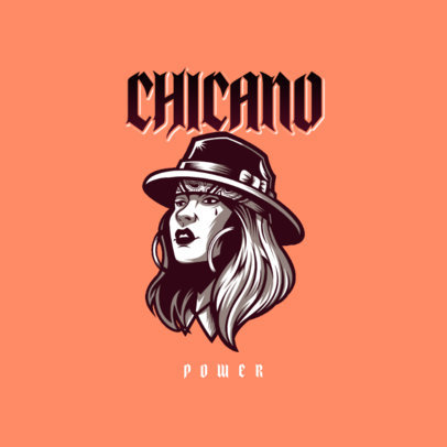 Clothing Store Logo Generator Featuring a Woman with a Chicano Style 3840a