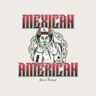 Clothing Brand Logo Maker Featuring a Cholo Character 3840a