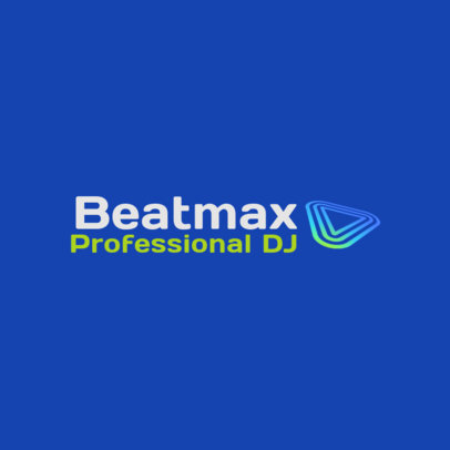 Simple Logo Creator for a Professional DJ 3833e
