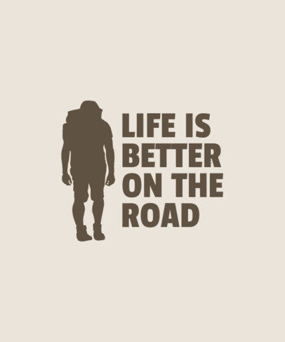 Quote T-Shirt Design Maker with a Silhouette of a Hiker 3183b-el1