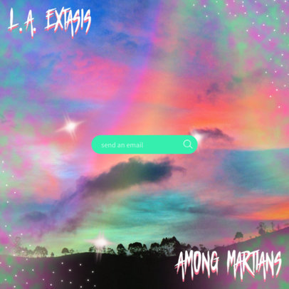 Pop Album Cover Creator Featuring a Rainbow Effect Filter 3165b