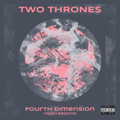 Dark Rock Album Cover Template Featuring a Grainy-Texture Circle 3201b-el1