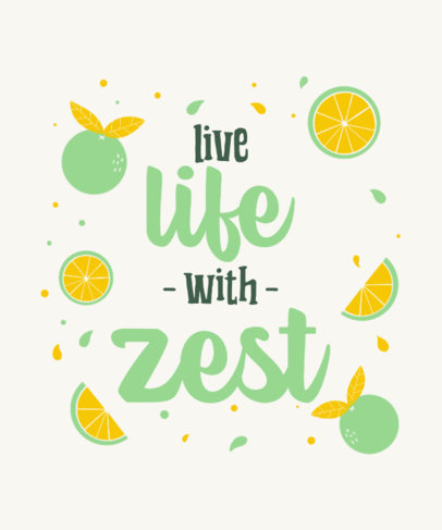 Online T-Shirt Design Template with a Lemon Pun 2175f