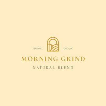 Coffee Brand Logo Template Featuring Minimal Graphics 3852e