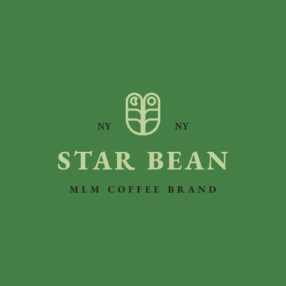 Logo Template for MLM Coffee Brands Featuring an Elegant Layout3852k