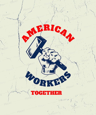 Labor Union T-Shirt Design Template 3179