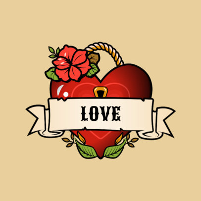 Streetwear Logo Maker Featuring a Padlock Heart Illustration 3862h