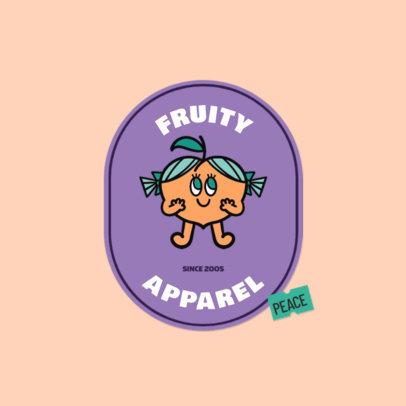 Kids' Apparel Brand Logo Generator Featuring a Cute Peach Graphic 3850e