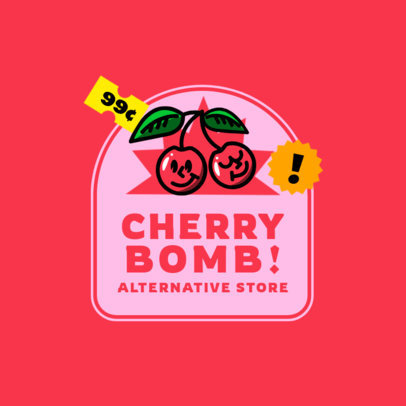 Clothing Brand Logo Creator with Smiling Cherry Graphics 3849F