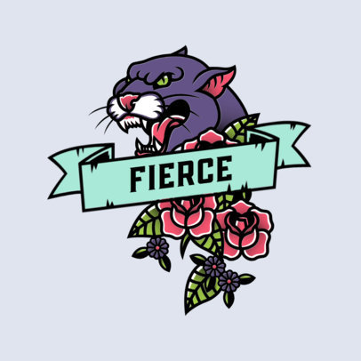 Online Logo Creator for an Urban Apparel Boutique with a Fierce Panther Graphic 3862g