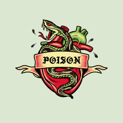 Music Logo Generator for Classic Rock Artists Featuring a Poisonous Snake Illustration 3862m