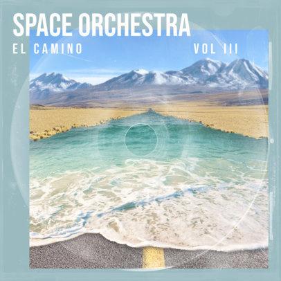Indie Music Album Art Maker Featuring Surrealistic Landscapes 3205