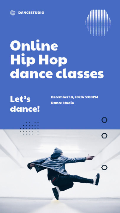 Instagram Story Design Template to Promote Dance Lessons 3240-el1