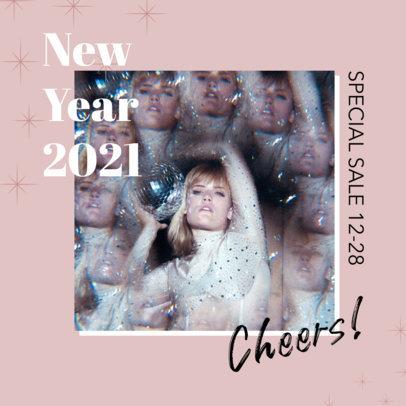 Glittery Instagram Post Maker for New Year 3200