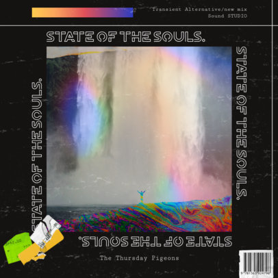 Album Cover Maker with a Rainbow Overlay and Landscape Pictures 3204