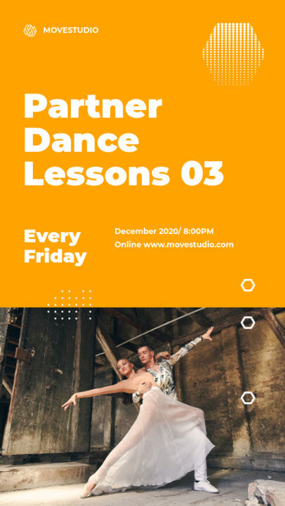Instagram Story Generator to Promote a Couple's Dance Lesson 3240c-el1