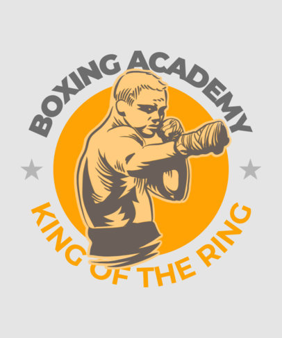 T-Shirt Design Generator for a Boxing Academy with a Fighter Graphic 3202b
