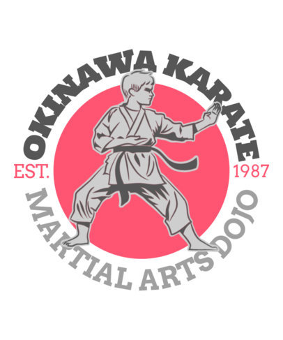 Illustrated T-Shirt Design Generator for a Martial Arts Dojo 3202g