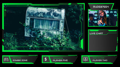 Modern Twitch Overlay Maker with Neon-Colored Shapes 3208a-el1