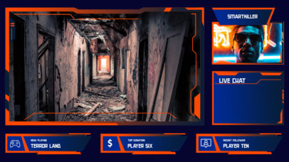 Vibrant Twitch Overlay Maker with Webcam Frame for a Horror Gamer 3208b-el1
