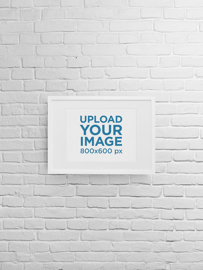 Mockup of an Art Print With Customizable Background m898