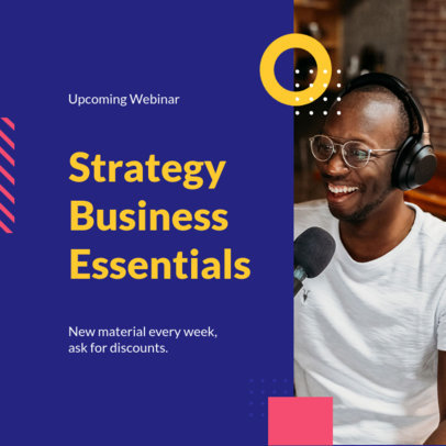 Instagram Post Design Maker to Promote Business Webinars 3254-el1