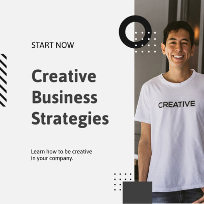 Instagram Post Design Generator to Announce a Course on Creativity for Business 3254b-el1