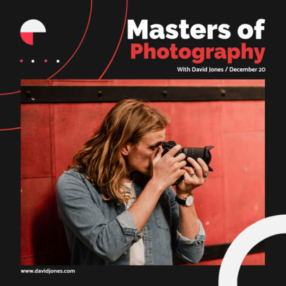 Trendy Instagram Post Template to Promote a Photography Course 3248a-el1
