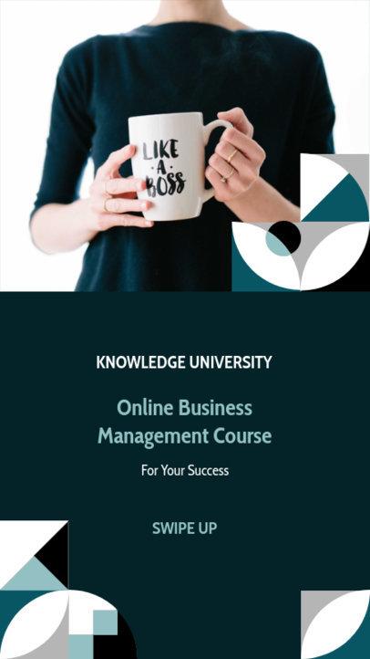 Instagram Story Maker for a Business Management Course 3236e-el1