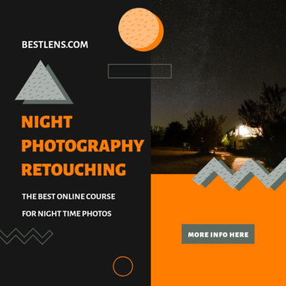 Instagram Post Design Generator for a Night Photography Course 3252b-el1