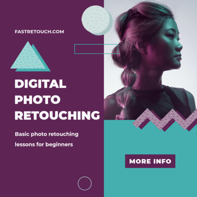 Instagram Post Generator for a Photo Retouching Course 3252e-el1