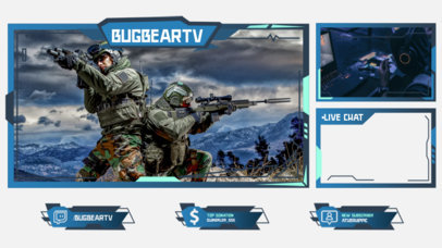 Twitch Overlay Generator Featuring for an FPS eSports Channel 3214b-el1