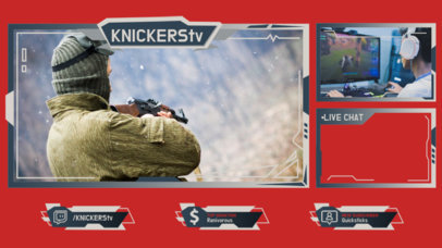 Shooter Games-Themed Twitch Overlay Maker Featuring Cool Frames 3214c-el1