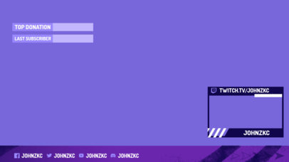 OBS Stream Overlay Generator With a Minimal Style and a Webcam Frame 3193g