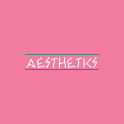 Minimalist Logo Creator for a Label with a Greek Urban Style 3866b