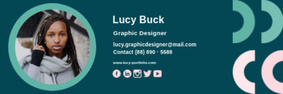 Email Signature Maker with a Graphic Designer's Portrait 3233c