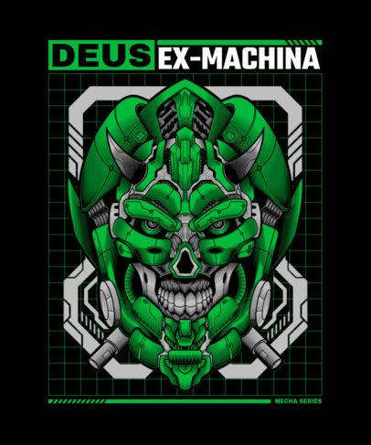T-Shirt Design Maker Featuring Illustrations of Mecha Robots 3288-el1