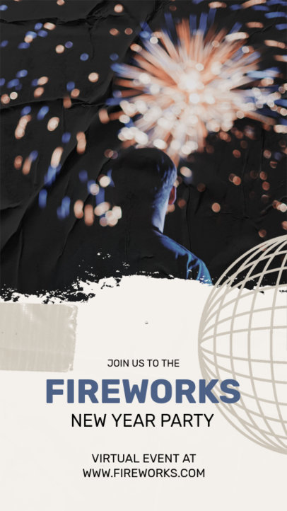 Instagram Story Design Template for a Virtual Fireworks Event 3264d-el1
