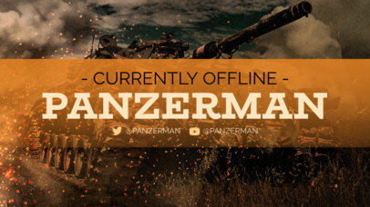 Twitch Offline Banner Creator with a Cool Graphic of a War Tank 3224a