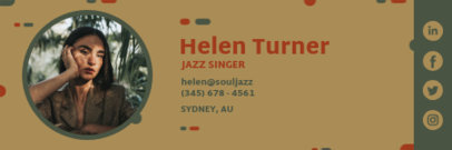 Email Signature Template with Earthly Tones 3232h
