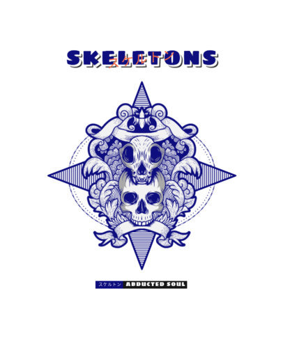 Horror-Themed T-Shirt Design Generator Featuring Skull Graphics 3290e-el1